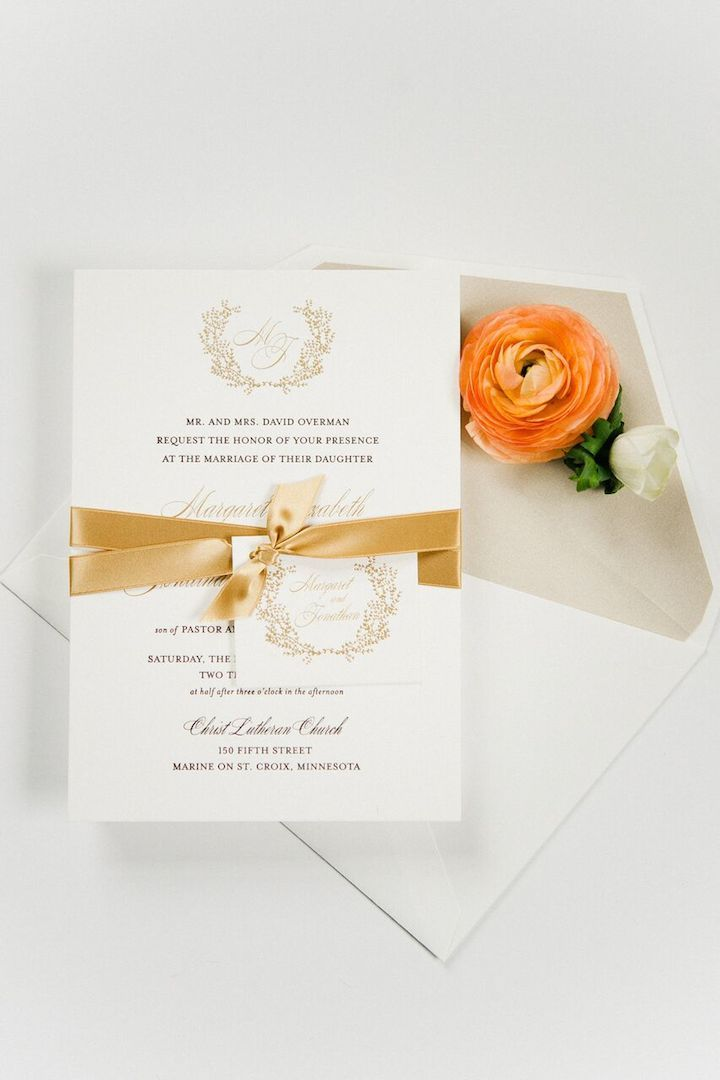 tie ribbon wedding invitation%0A Wedding Invitation Inspiration  Photo  Melissa Oholendt Photography