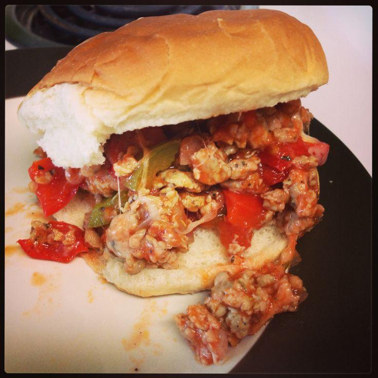 Crockpot Italian sloppy joes | Food For Thought | Pinterest