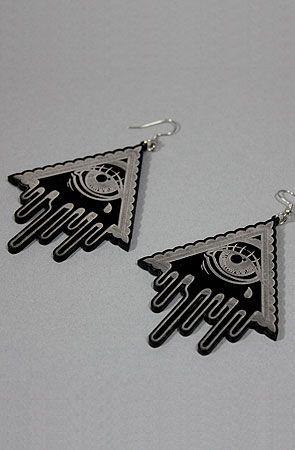 Forever Strung The Crying Eye EarringsBlack : Karmaloop.com - Global Concrete Culture