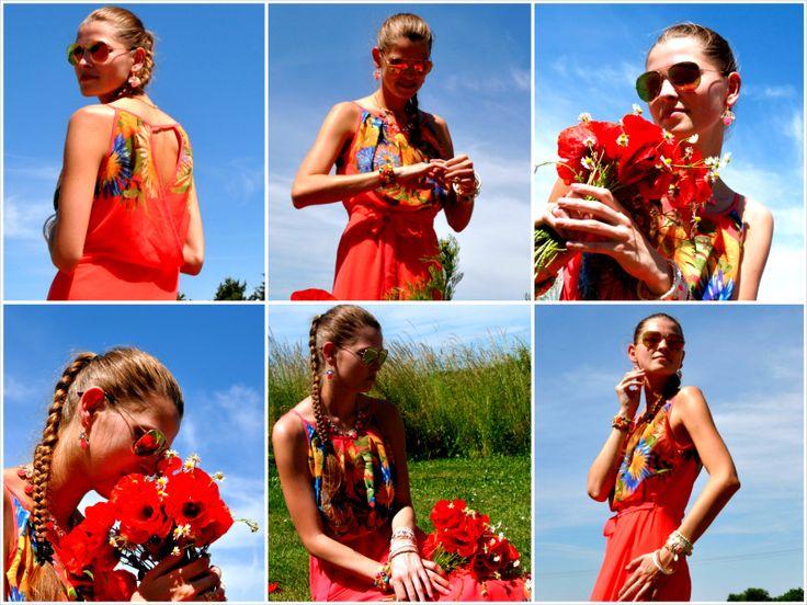 Šifónové letní šaty