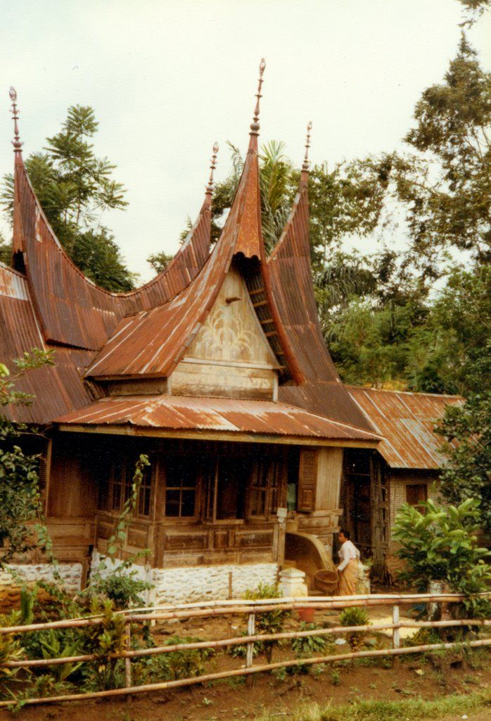Batusangkar, Minangkabau house, 1980