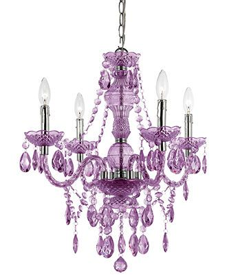 Elements Chandelier, 4-Light Mini in Purple - Lighting & Lamps - for the home - Macy's