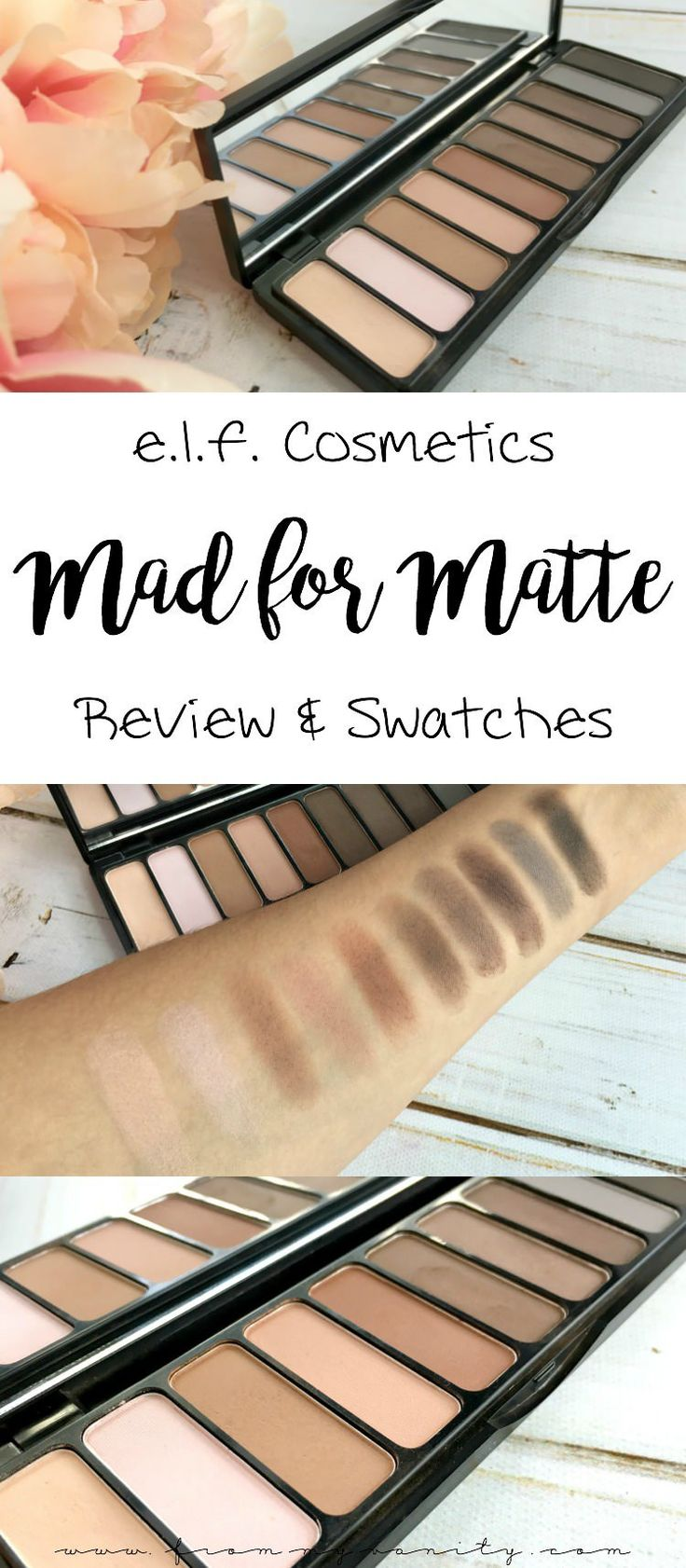 If you keep passing over this palette...I think this review might just change your mind!   E.L.F. Cosmetics' Mad for Matte eyeshadow palette