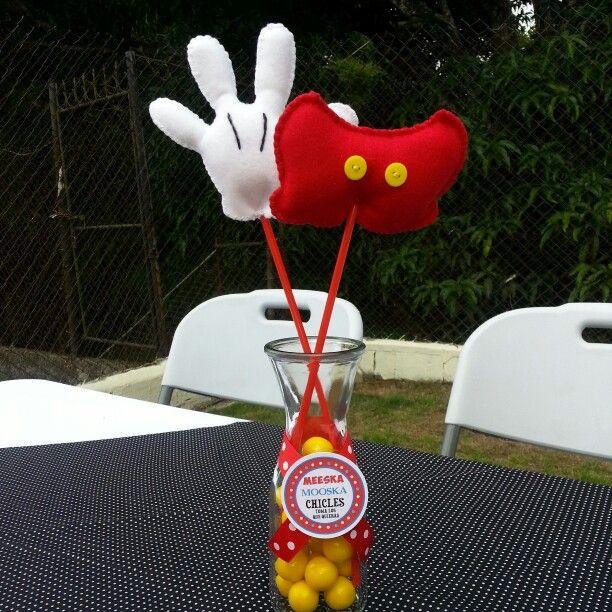 Centros de mesa hechos a mano... Mickey Mouse Party