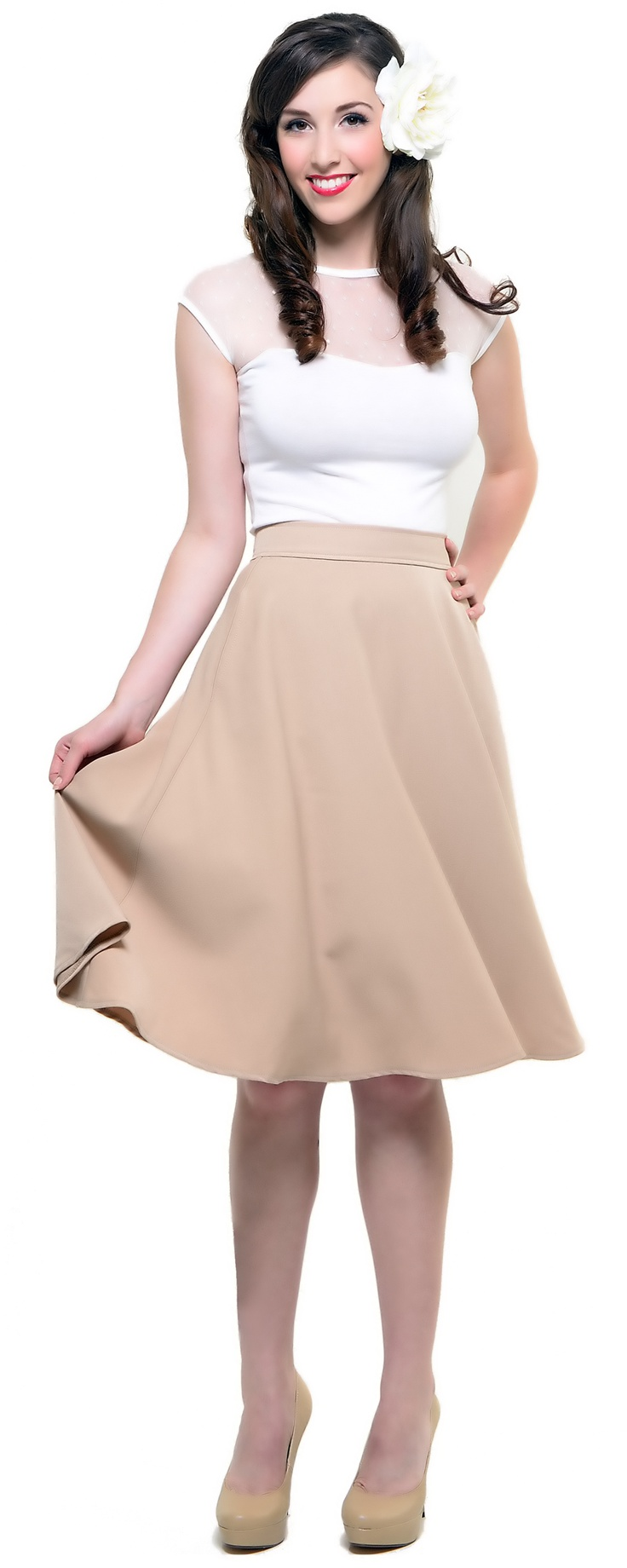 Tan Charlotte Pocket Skirt **so cute for work in the summer**
