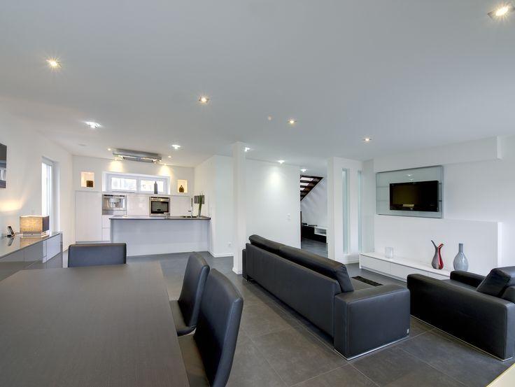 Fertighaus - Wohnideen Wohnzimmer #Haus #Fertighaus #modern - wohnzimmer modern gemutlich