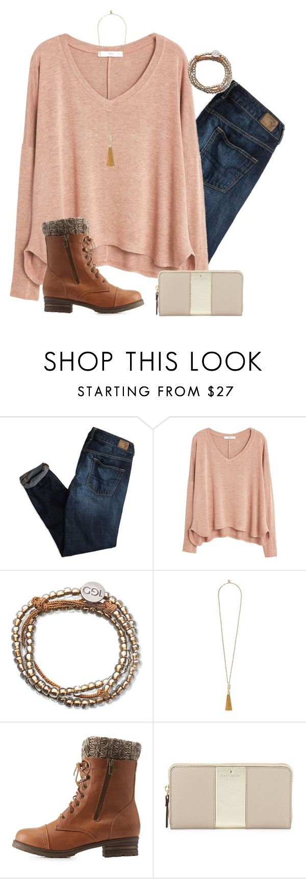 """""""Our time is now"""" by madelynprice ❤ liked on Polyvore featuring American Eagle Outfitters, MANGO, Vince Camuto, Charlotte Russe and Kate Spade"""