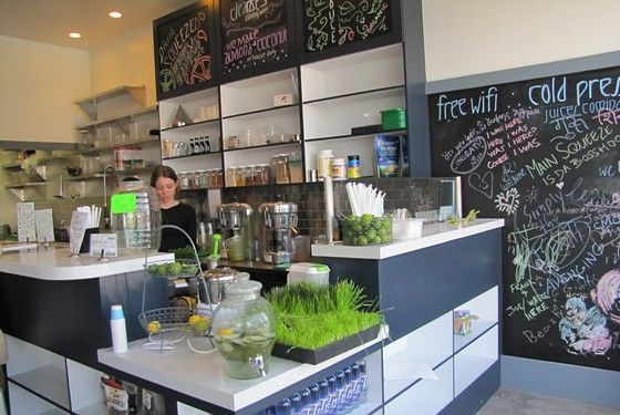 Meet Santa Monica's Main Squeeze. No, literally...a juice bar named Main Squeeze.