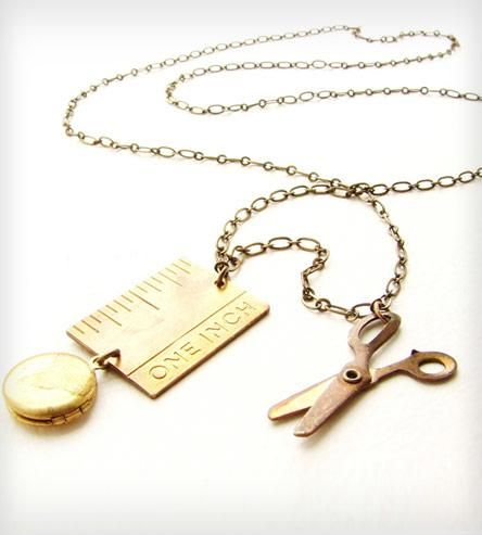 Brass Ruler & Scissors Necklace | Women's Jewelry | Sora Designs | Scoutmob Shoppe | Product Detail