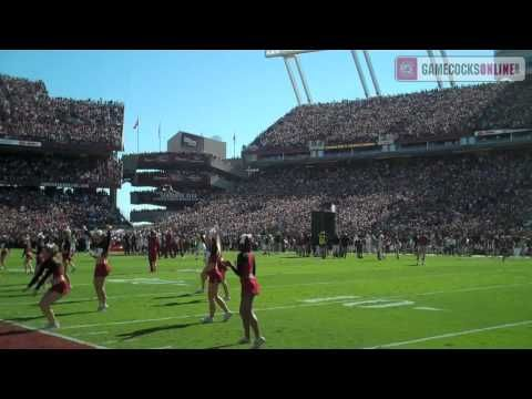 """South Carolina Football: """"2001"""" Entrance from student section before win over No. 1 Alabama on October 9, 2010."""