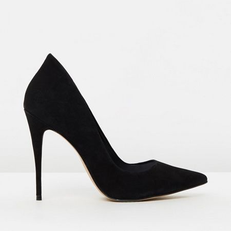 Aldo black stiletto shoes the iconic