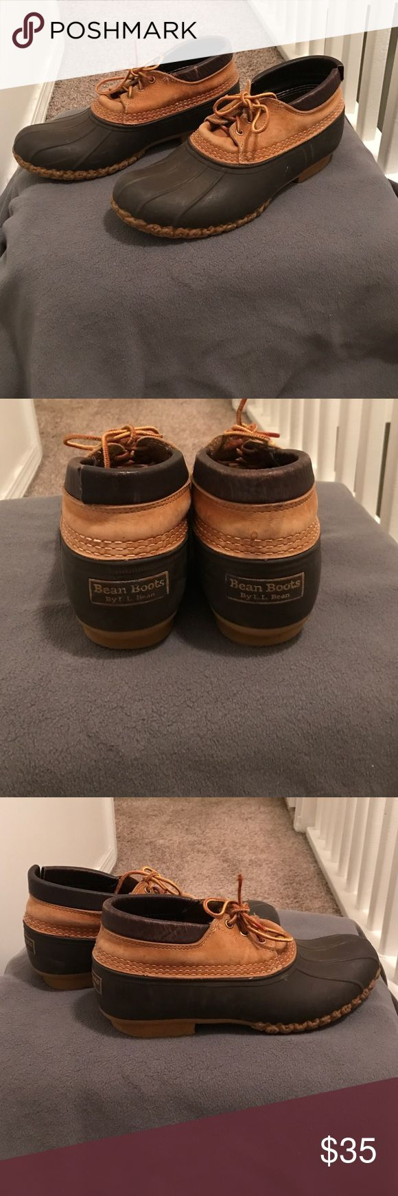 Men's L.L Bean Boots Men's size 10 low cut Bean Boots. They are use Boots with some scrapes and scratches. They look good still! L.L. Bean Shoes Boots