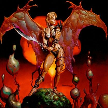 Warrior art boris fantasy vallejo