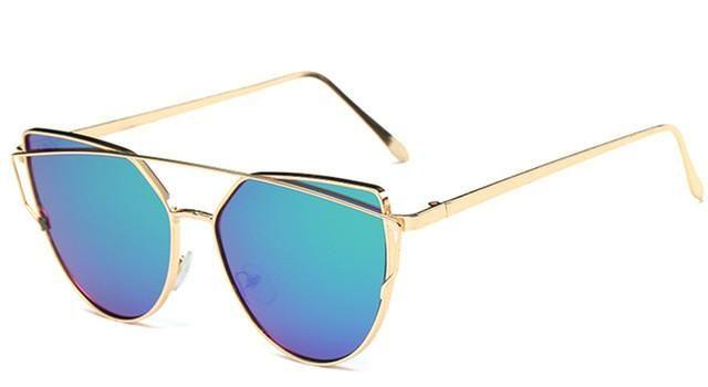 Gold Framed Cat eye Women Sunglasses