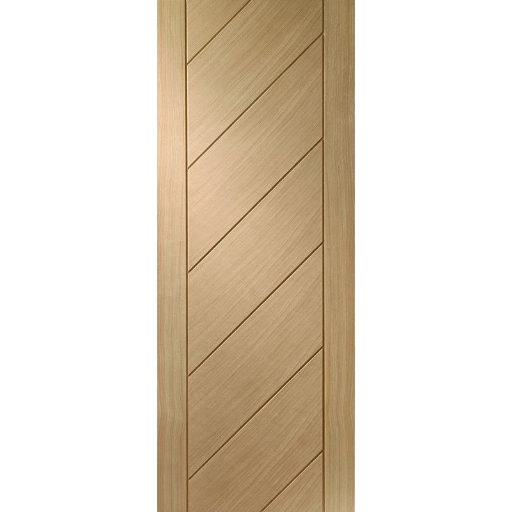 an unfinished internal obscure glazed oak fd30 fire door featuring diagonal panels the monza oak