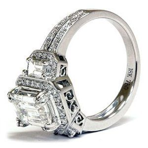 vintage emerald cut engagement rings. Birthstone is emerald color. But I love that this is EMERALD cut