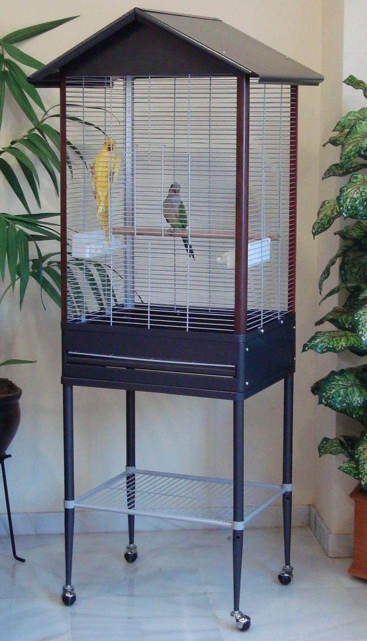 Pajarera Loritos. Preciosa y resistente pajarera ideal para cotorras, ninfas, agapornis y aves de similar tamaño.