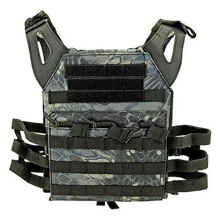 Junior Padded Tactical Vest - Black Mamba