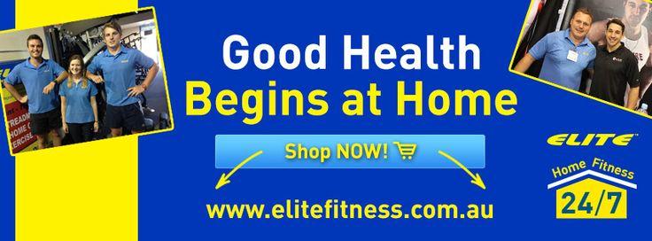 Elite Fitness Equipment Good Health Begins at Home Facebook Banner
