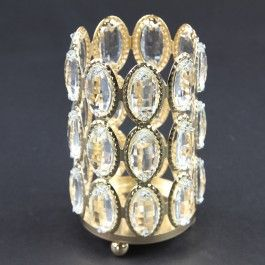 """3.93""""X5.11"""" CANDLE HOLDER GOLD"""