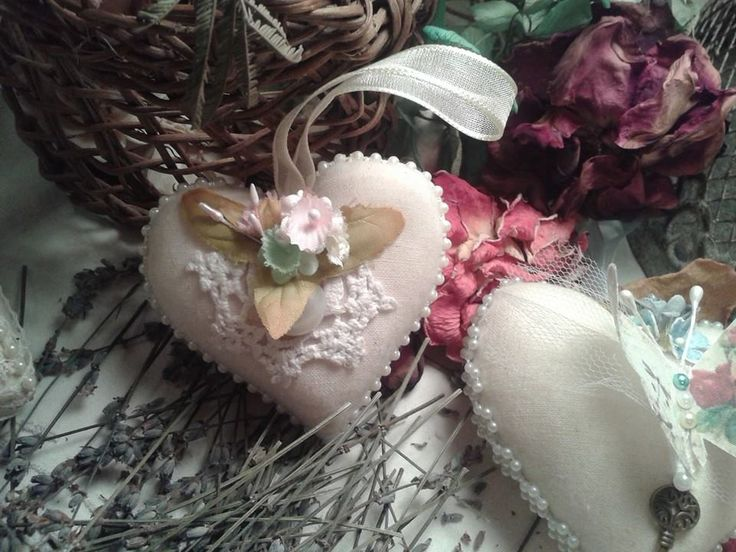 colección de invierno, corazón hecho a mano en tela de algodón, aromatizado a lavanda natural