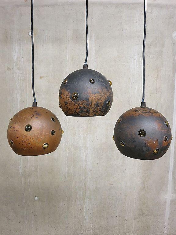 Raak bollamp hanglamp Dutch vintage design Nanny Still Raak Pendant ball lamp