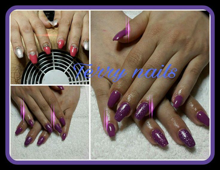 Lavoro prima nn mio  #FreeToEdit Terry nails#refil #gel #gelpolish #color #vinaceo #brilliant #