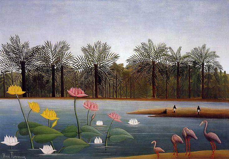 """""""I fenicotteri"""", 1907 - Henri Rousseau."""