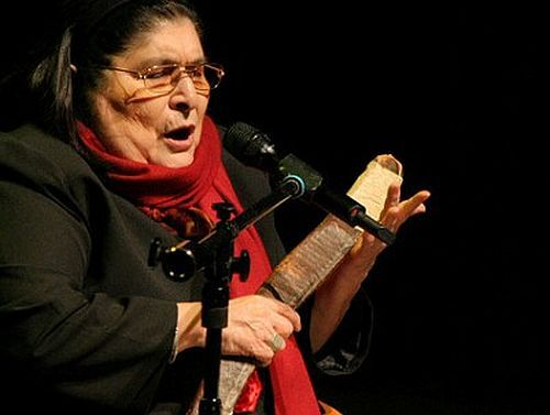 """TODAY (October 4, 5 years ago) Mercedes Sosa ,  the Argentinian singer known as """"La Negra,"""" passed away. She is remembered . To watch her 'VIDEO PORTRAIT'  'Mercedes Sosa -  Gracias A La Negra' in a large format, to hear 'BEST OF  Mercedes Sosa  Tracks' on Spotify go to  >> http://go.rvj.pm/1cq"""