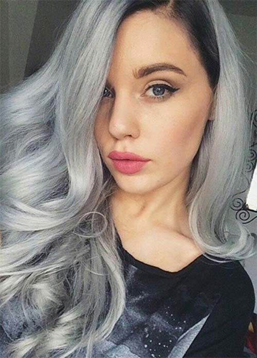 109 best Granny hair images on Pinterest | Hairstyles, Silver hair ...