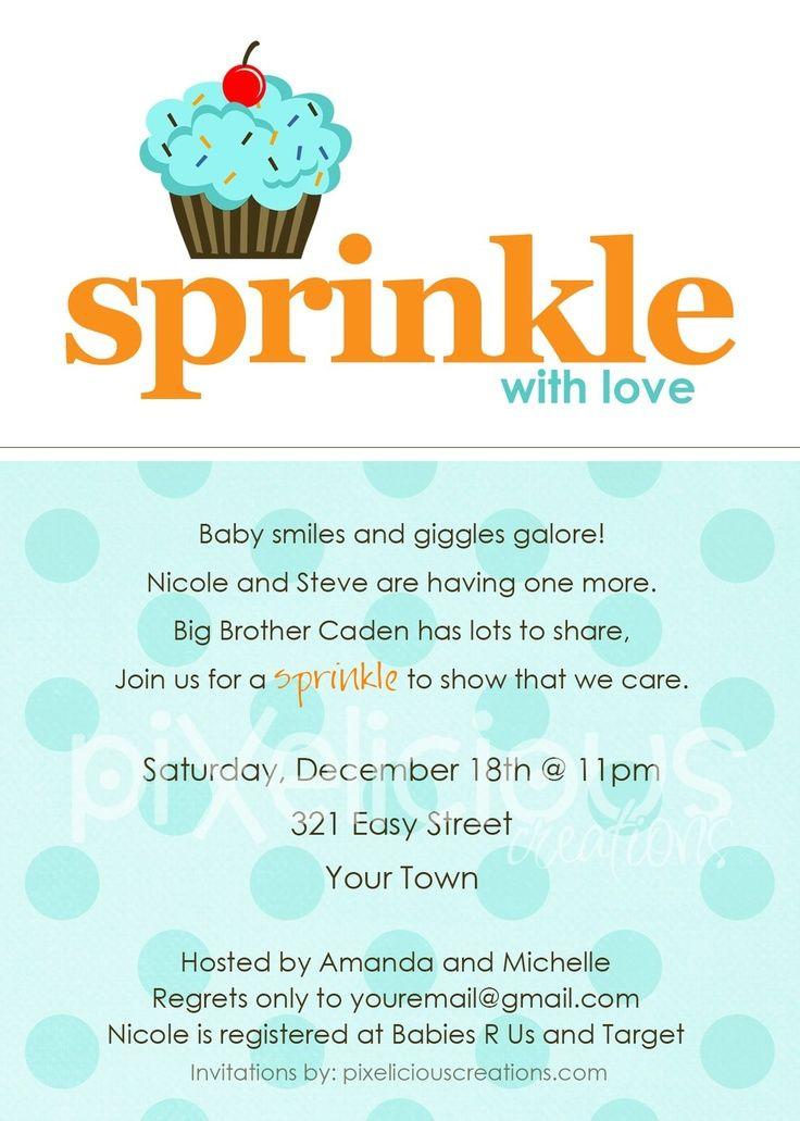 sprinkle custom baby shower invitation boy and girl digital file print sprinkle with love sprinkle baby shower invitations blue ice cream