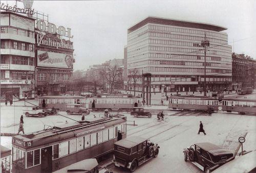 "aboutvisualarts: "" Erich Mendelsohn. Columbushaus in Potsdamer Platz. 1932 Photographer Waldemar Titzenthaler """
