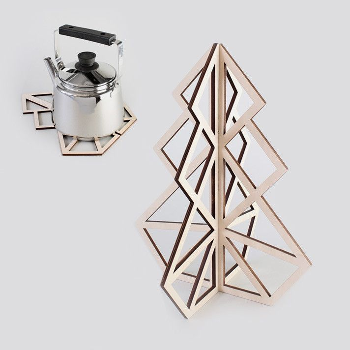 Treepot 3D trivet - Wooden from be&liv