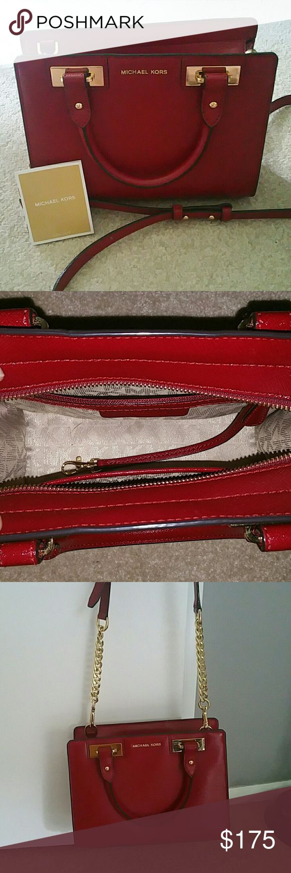 Michael Kors Crossbody Purse Red Crossbody Michael Kors Selma purse, bought brand new from Dillard's this winter and decided it wasn't my style. Michael Kors Collection Bags Crossbody Bags