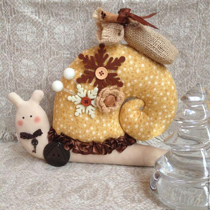 Купить улиточка - улитка, улиточка, интерьерная игрушка, домашний оберег, домашний текстиль, домашний декор
