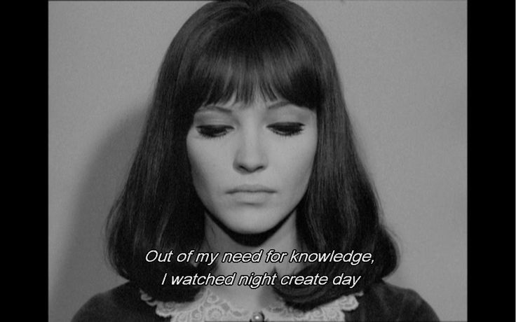 Anna Karina- I'm fascinated with her. Her relationship, romantic and professional with Jean-Luc Godard. Their films. Their art. Her as his muse.