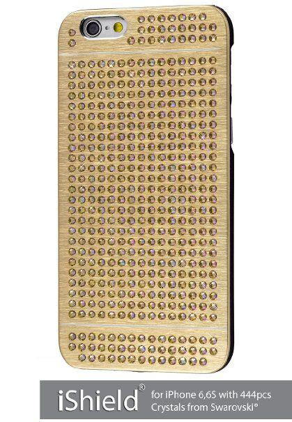 iShield® 6 Light mit*444*Stück Crystals from Swarovski® Luxus Hülle /Schale / Schutzhülle für iPhone 6,6S aus gebürstetem Aluminium mit Swarovski Elementen , Marke und Model: iShield® 6 Light Hülle Champagne Gold Luxus: Amazon.de: Elektronik