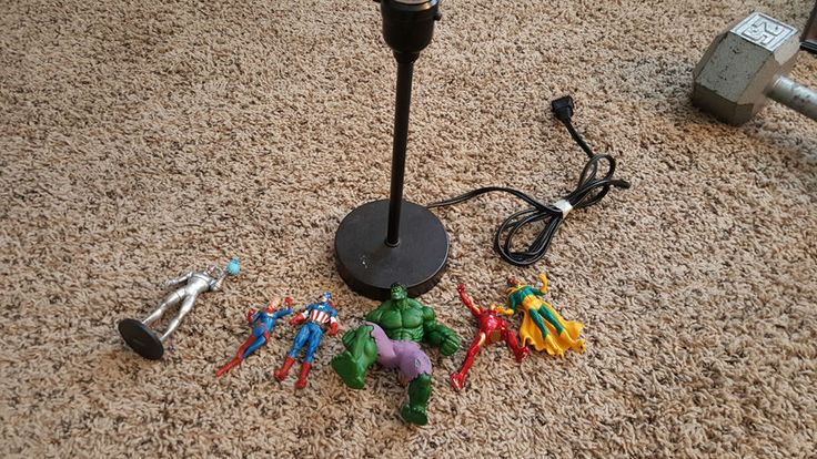 An Awesome DIY Spray Painted Superhero Lamp