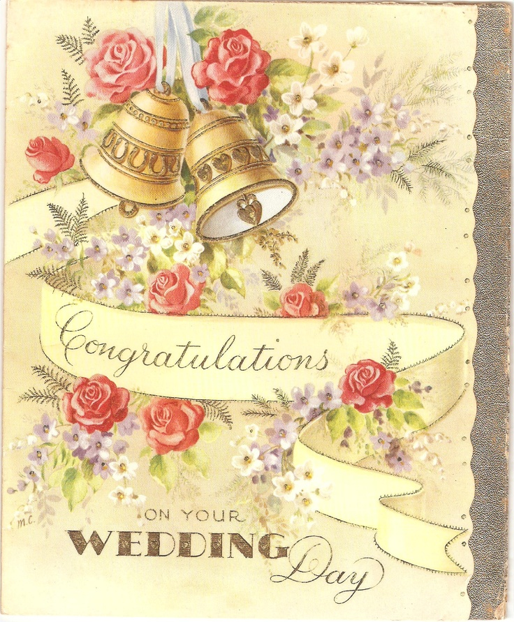 1958 congratulations on your wedding day greeting card
