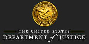 The U.S. Department of Justice website has ditched the red white and blue banner for a staunch black background reminiscent of a Muslim flag. Then there's the caption The common law is the will of mankind issuing from the life of the people.