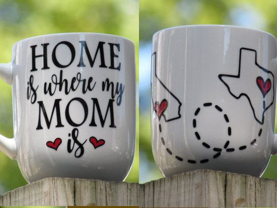 Personalized Coffee Mug for Mom Home is where by Sammieslettering