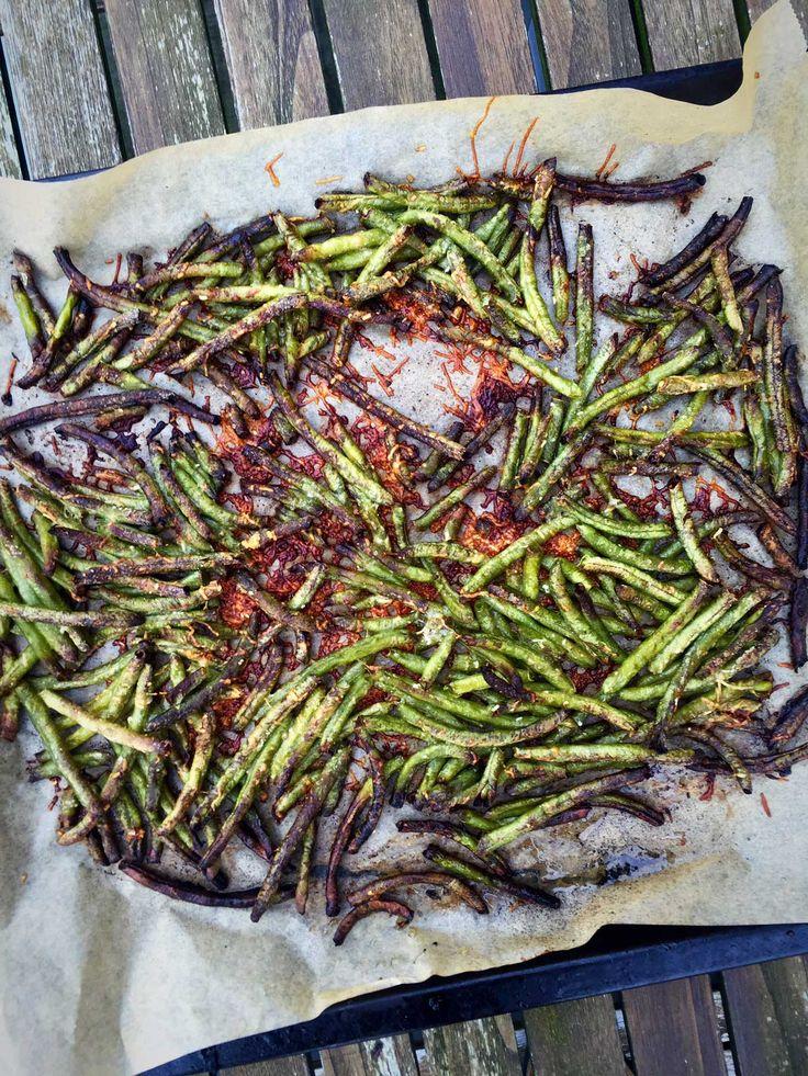 Crispy green bean fries with parmesan - easy recipe --> MyCopenhagenKitchen.com