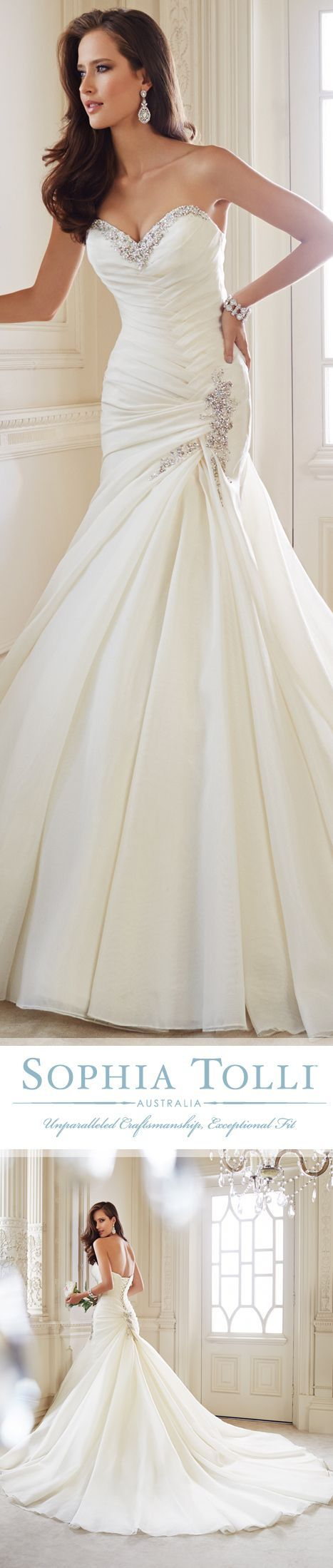 """I found THE gown"" ""say YES to this dress"" I'm in LOVE! I just want gold embellishments. This will be my wedding dress"