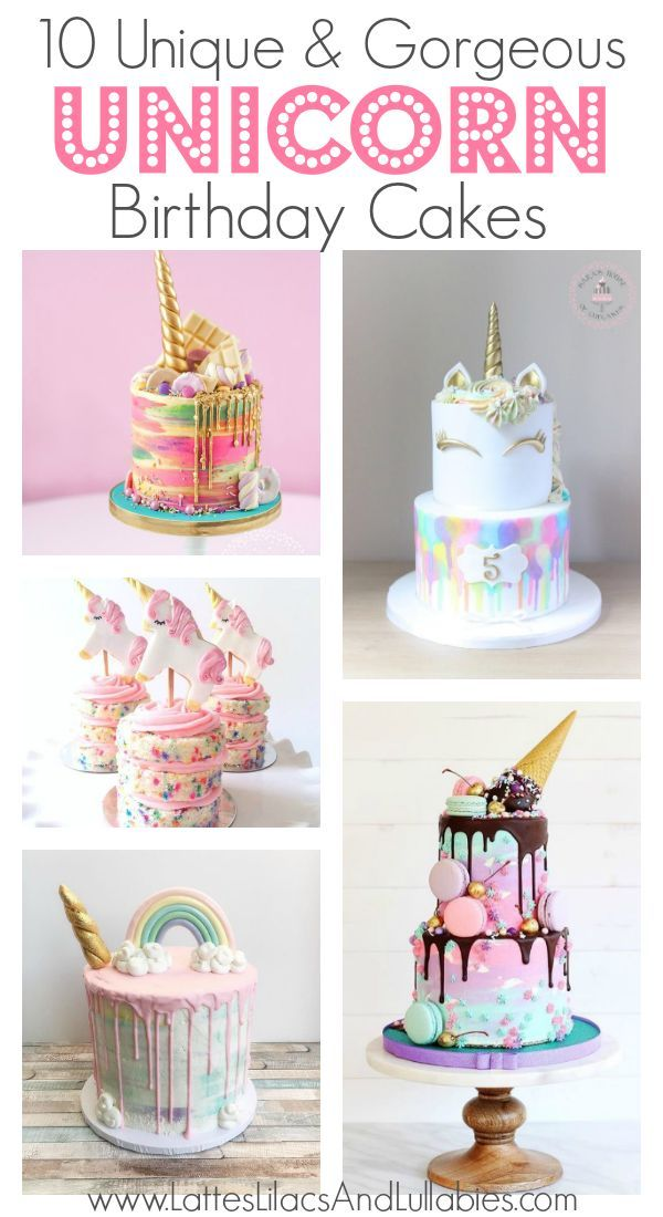 10 Gorgeous Unicorn Birthday Cakes
