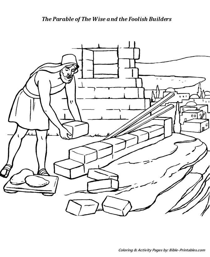70 best wise man foolish man images on pinterest for Wise man foolish man coloring page