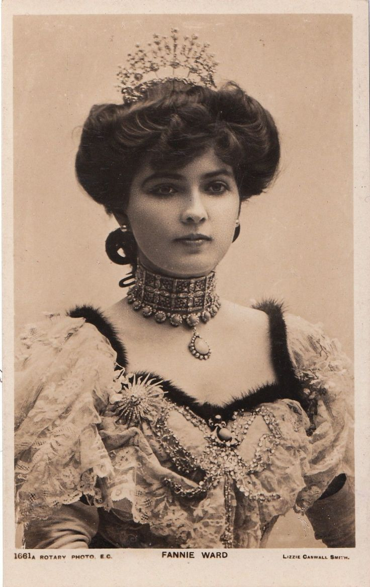Portrait of Pretty Stage and Film Actress Fannie Ward