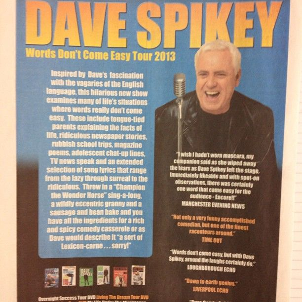 Check out our Dave Spikey ad in the Scunthorpe Entertainer. Dave performs at The Baths Hall on 9 March.