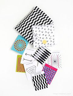 optical illusion lunch box notes - free printables