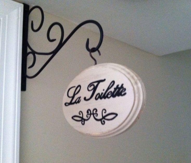 Adorable Bathroom Sign  La Toilette by CountryHomemakers on Etsy   17 50. 17 Best images about Bathrooms on Pinterest   Herringbone