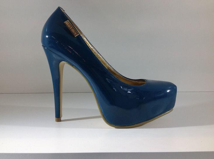Sissy Boy Teal Patent Leather High Heel Platform